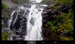 красивый водопад. хибины