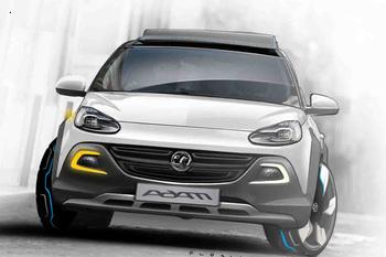 Концептуальный кроссовер Opel скромных размеров под названием Adam Rocks будет представлен на женевской выставке 2013 года.