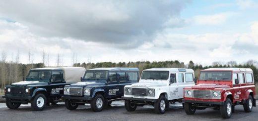 На Женевском автосалоне Land Rover представит свой исследовательский парк, состоящий из семи полностью электрических Defender.