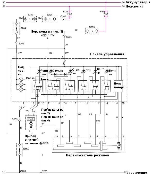 электрическая схема тагера